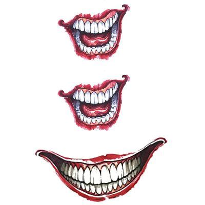 glow   dark joker smile pack temporary tattoo
