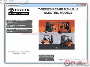 Toyota Forklift Truck Full Set Manual Dvd