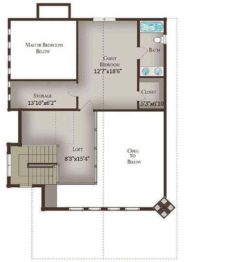 plan lsgww  bedroom  bath log home plan