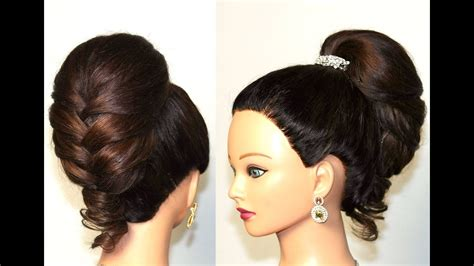 Hairstyle For Long Hair. Elegant Braided Updo. Fishtail