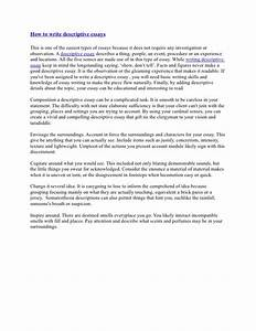 Example descriptive essay person writing a doctoral dissertation