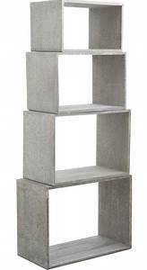 Etagere Cube Blanc : tag re murale cube ~ Teatrodelosmanantiales.com Idées de Décoration