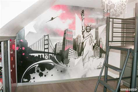decoration murale new york d 233 co pour chambre new york