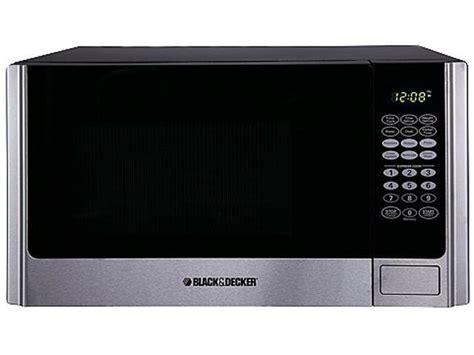black decker em925ame p1 0 9 cu ft 900w microwave oven stainless steel black newegg