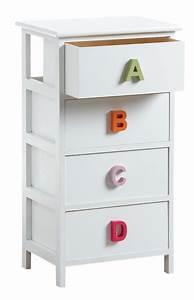 Commode 4 Tiroirs : commode alphabet 4 tiroirs ~ Teatrodelosmanantiales.com Idées de Décoration