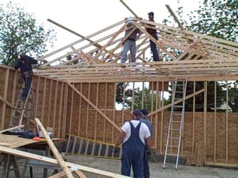 Trusses For The Garage Youtube