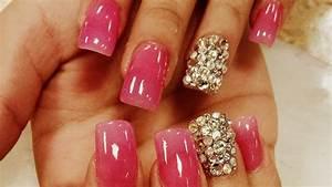 diamond nails - Cute Nail Arts