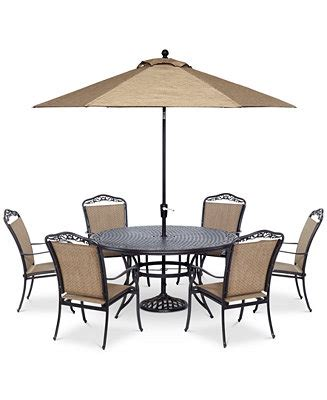 beachmont ii outdoor 7 pc dining set 60 quot table and