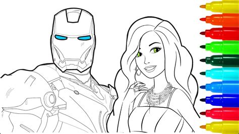 Iron Man Barbie Coloring Pages
