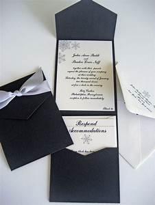 pocket wedding invitation set elegant snowflakes by With elegant wedding invitations tumblr