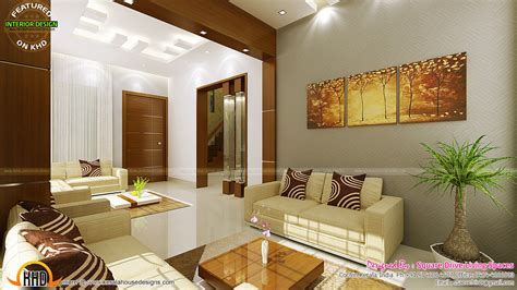homes interior design contemporary kitchen dining and living room kerala home