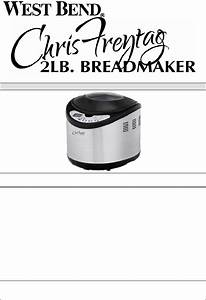 Download West Bend Bread Maker 41200cf Manual And User