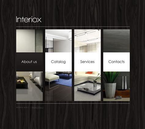 Interior Design Website Template #32632