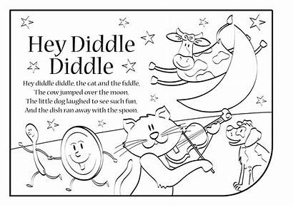 Diddle Hey Coloring Pages Fiddle Rhymes Nursery
