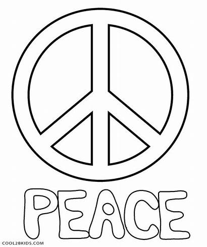 Peace Coloring Sign Pages Printable Symbol Sheets