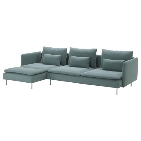 canapé turquoise ikea söderhamn three seat sofa and chaise longue finnsta