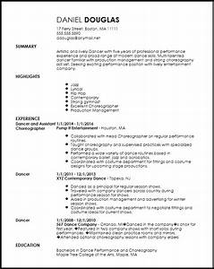 free creative dancer resume template resumenow With dance resume format