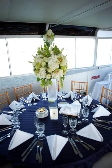 wedding centerpiece nautical theme hornblower cruises
