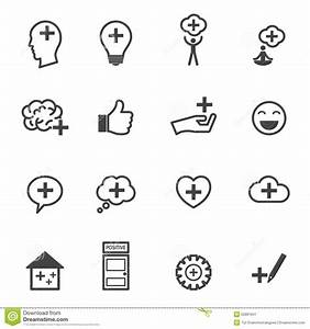Think Positive Icons Stock Vector - Image: 52861847