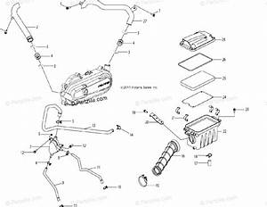 Polaris Atv 2013 Oem Parts Diagram For Engine  Air Intake