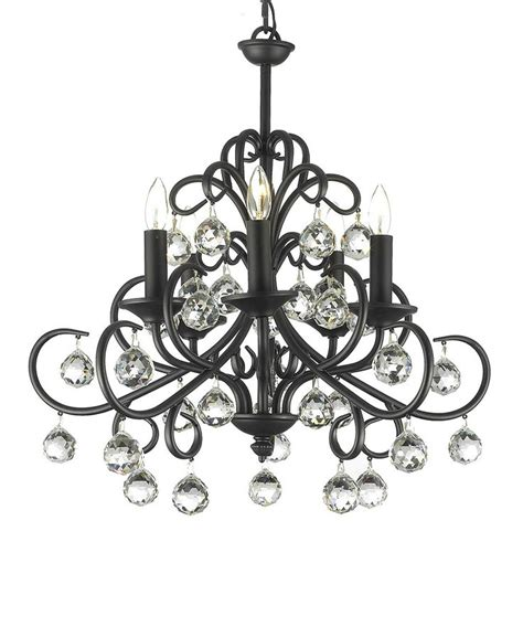 black 22 wrought iron chandelier