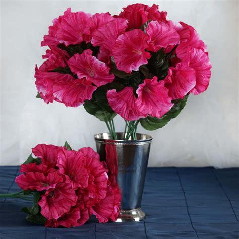 silk petunia bushes artificial wedding party flowers