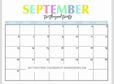 Free Printable 2020 Calendar So Beautiful & Colorful!