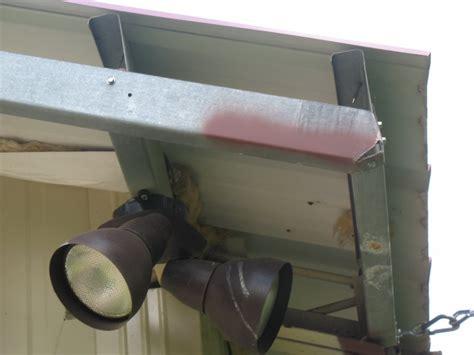 installing building trim  gable overhang diy backyard