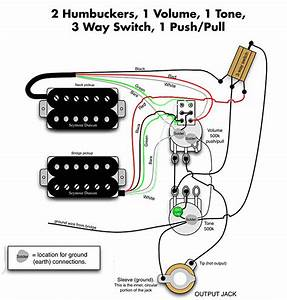 2 Humbuckers  1 Dpdt On  On Switch