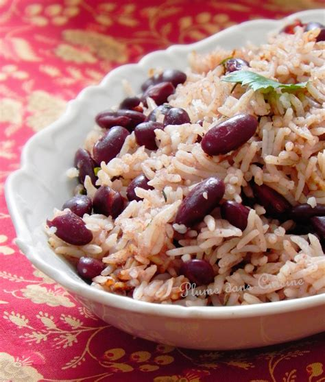 recette riz cuisiné riz collé aux haricots rouges recette haïtienne une