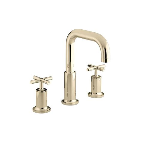 kohler purist 8 in widespread 2 handle mid arc bathroom