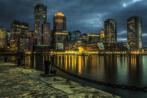 Night City Boston, Usa Wallpapers And Images