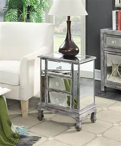 gold coast vineyard mirrored end table ojcommerce With living room furniture gold coast