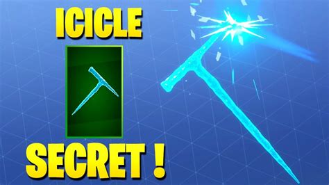 epic games adopting icicle pickaxe designed  fortnite
