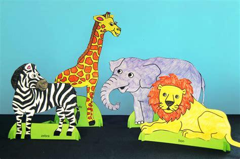 standing paper animals kids crafts fun craft ideas firstpalettecom
