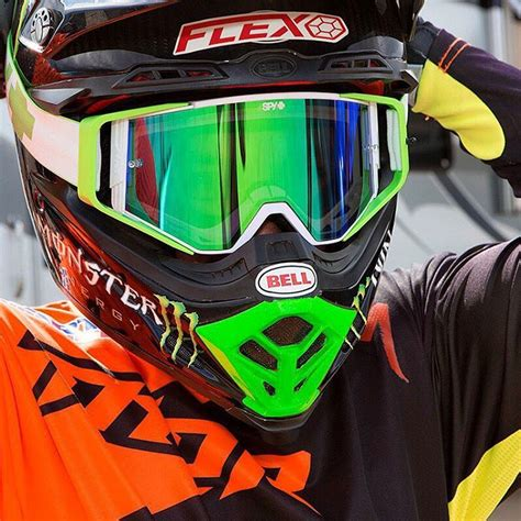 spy motocross goggles spy new mx ace jeremy mcgrath happy lens green silver
