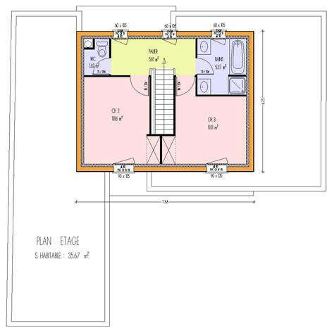 Plan Maison Etage 3 Chambres by Maison Bois 3 Chambres 123 00 M 178 3 Chambres Loire