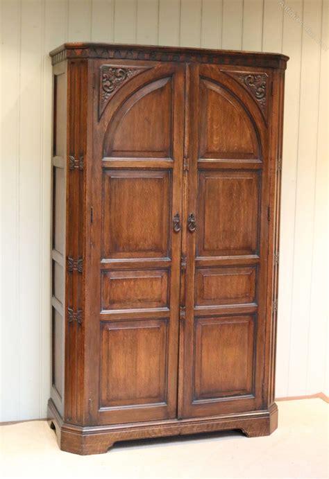 Oak Hall Cupboard Wardrobe  Antiques Atlas