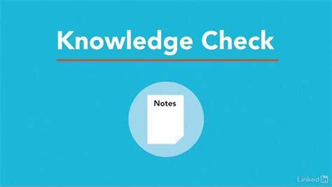 using knowledge checks