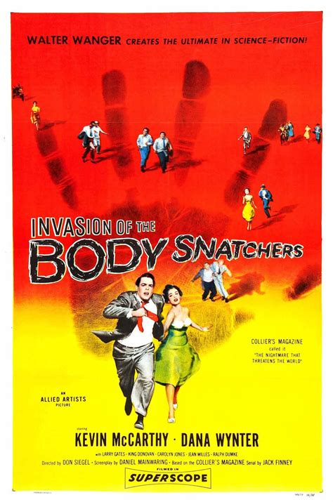 1956 invasion body poster horror snatchers movies