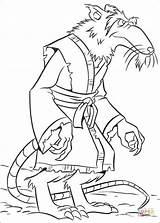 Splinter Colorare Disegni Coloring Ninja sketch template