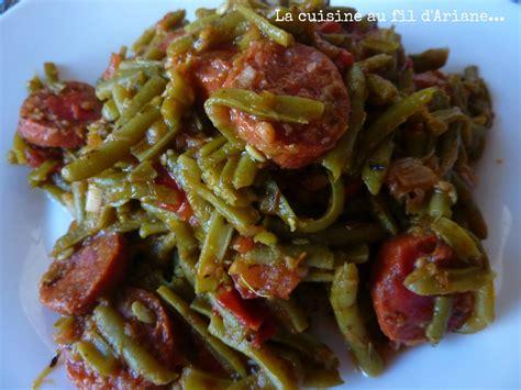cuisiner les haricots verts frais haricots verts au chorizo test des recettes du concours