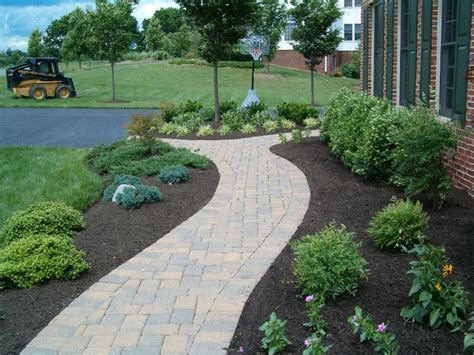 landscape sidewalk ideas walkway designs complements your home or an old and tired concrete sunken walkway