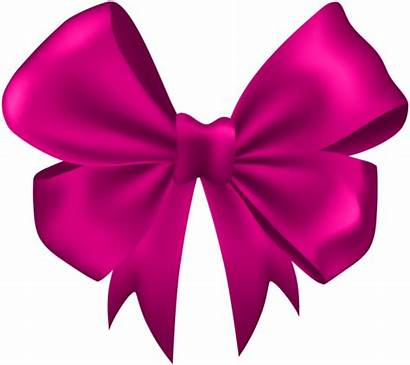 Bow Pink Clip Clipart Ribbons Transparent Yopriceville