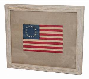 framed miniature 13 star american flag chairish With kitchen cabinet trends 2018 combined with antique american flag wall art