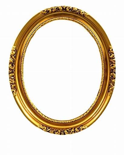 Oval Gold Frames Frame Golden Transparent Clipart