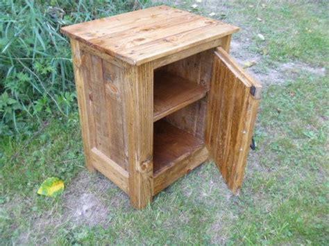 Rustic Nightstand Plans by Diy Pallet Nightstand Or Floor Cabinet Pallet Furniture