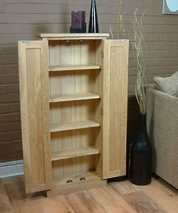 Mobel Oak DVD Storage Cupboard Media Storage EW Home