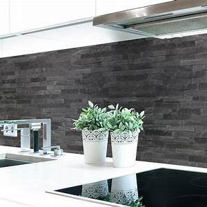 Küchenrückwand Hart Pvc : k chenr ckwand steinwand dunkel premium hart pvc 0 4 mm selbstklebend ebay ~ Orissabook.com Haus und Dekorationen