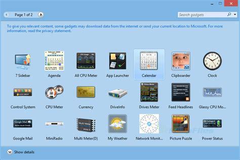 gadgets bureau windows 8 windows 8 gadget pack ව න ඩ ස 8 ඩ ක ස ට ප ග ජට